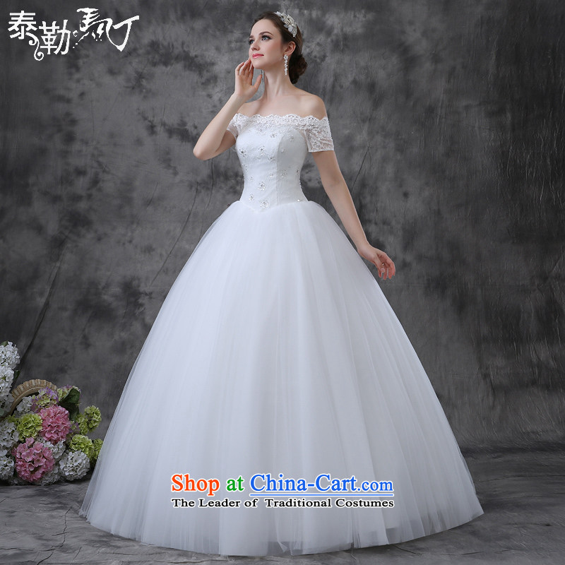 Martin Taylor New Word 2015 shoulder wedding fashion and align the court won to Sau San video thin marriages wedding dresses summer white (buy gift of three kit) M