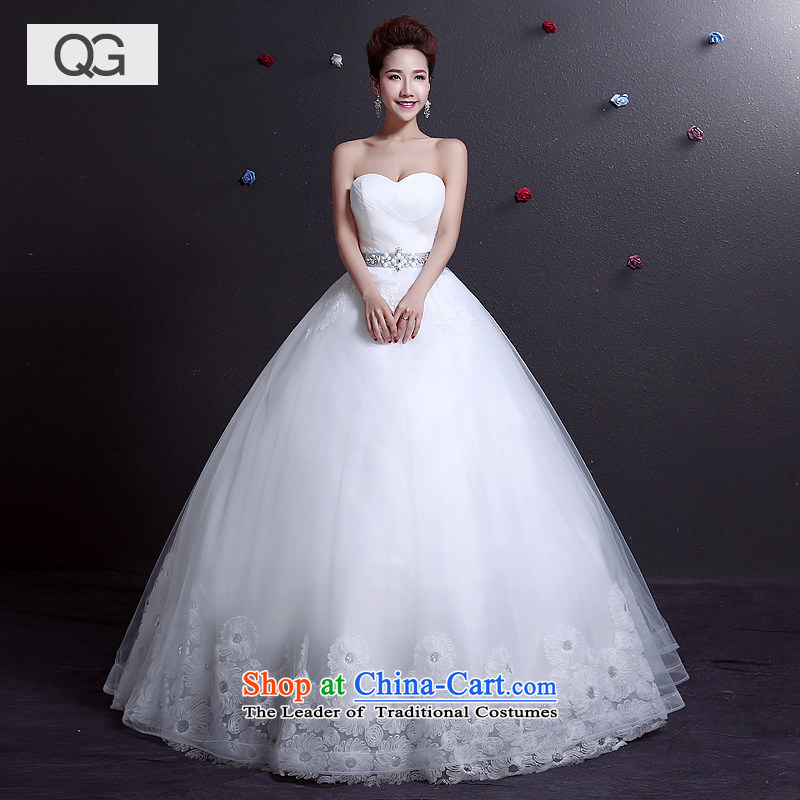 Wedding dresses 2015 Summer new anointed chest to align graphics thin Sau San tie wedding yard white?XS