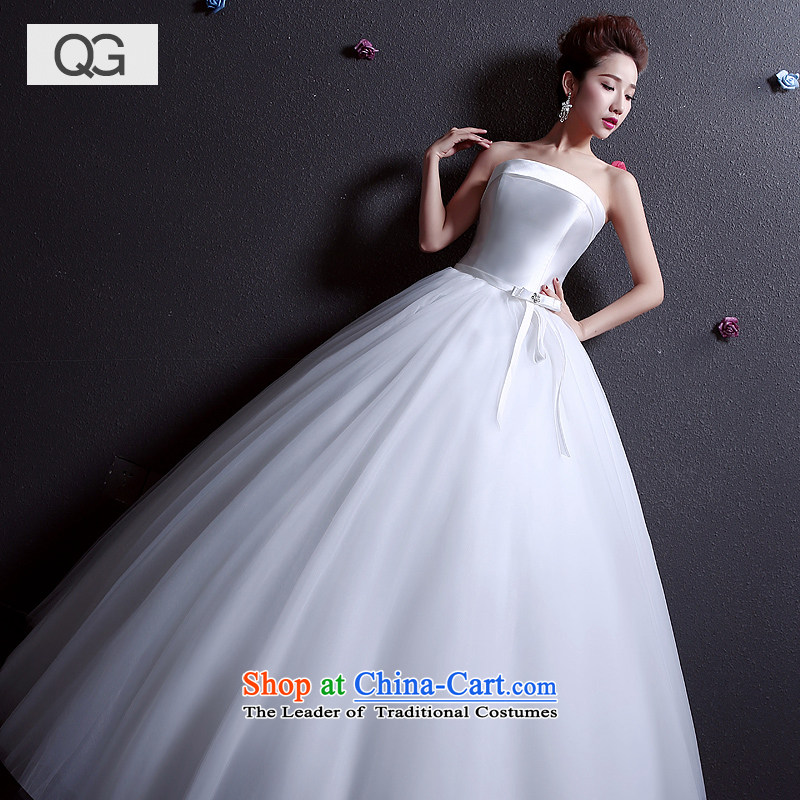 Wedding dresses 2015 Summer new bride anointed chest to larger graphics thin Sau San Wedding White?XXL