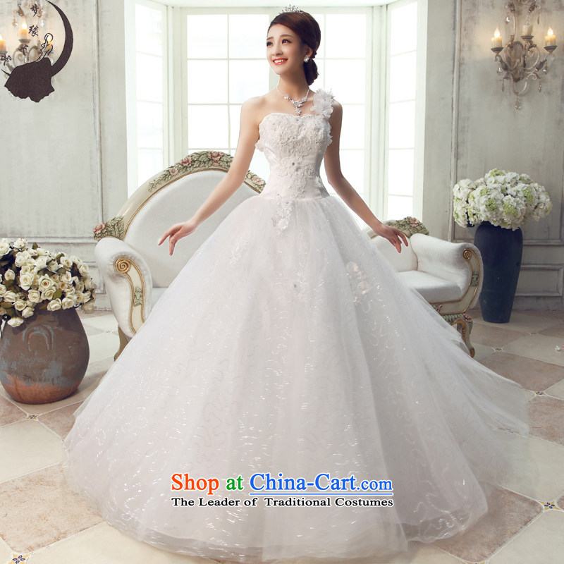 Marriage wedding dresses 2015 new autumn and winter, Korean brides to align the shoulder dress skirt Princess Sau San elegant Var y pressure White�M