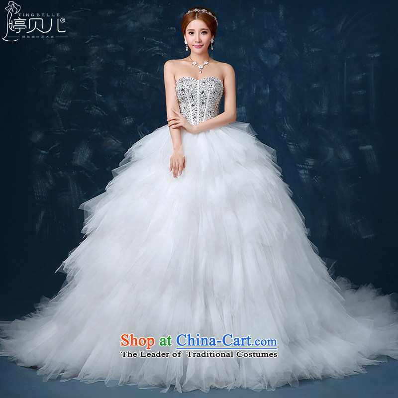 Beverly Ting wedding dresses 2015 Spring New Korean brides anointed chest diamond tail wedding summer feathers to align graphics thin white Sau San聽S