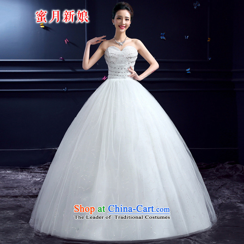 Wedding 2015 new wedding dresses honeymoon bride anointed chest wedding Korean align to Princess Diamond Wedding white?S