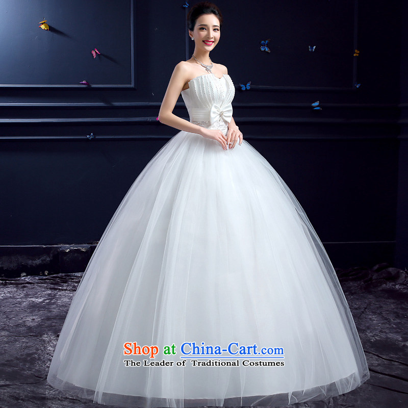 Wedding 2015 new wedding dresses honeymoon bride anointed chest wedding Korean film butterfly marriage on the dazzling white yarn S