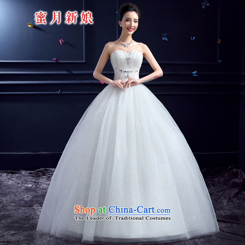Wedding 2015 new wedding dresses honeymoon bride anointed chest wedding sexy on chip lace princess wedding white XS