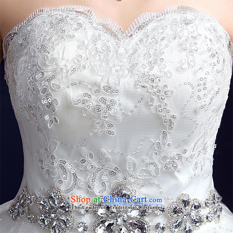 Wedding 2015 new wedding dresses honeymoon bride anointed chest wedding pregnant women to align the princess Diamond Wedding White聽M honeymoon bride shopping on the Internet has been pressed.