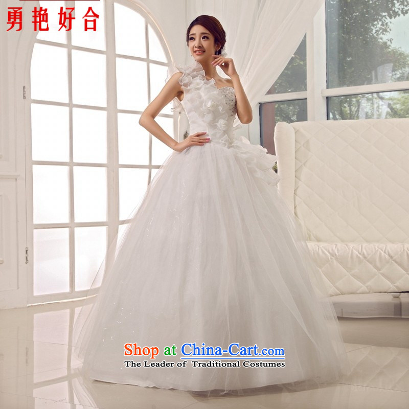 Yong-yeon and 2015 New wedding dresses retro palace sweet princess shoulder straps flowers bride wedding white?S