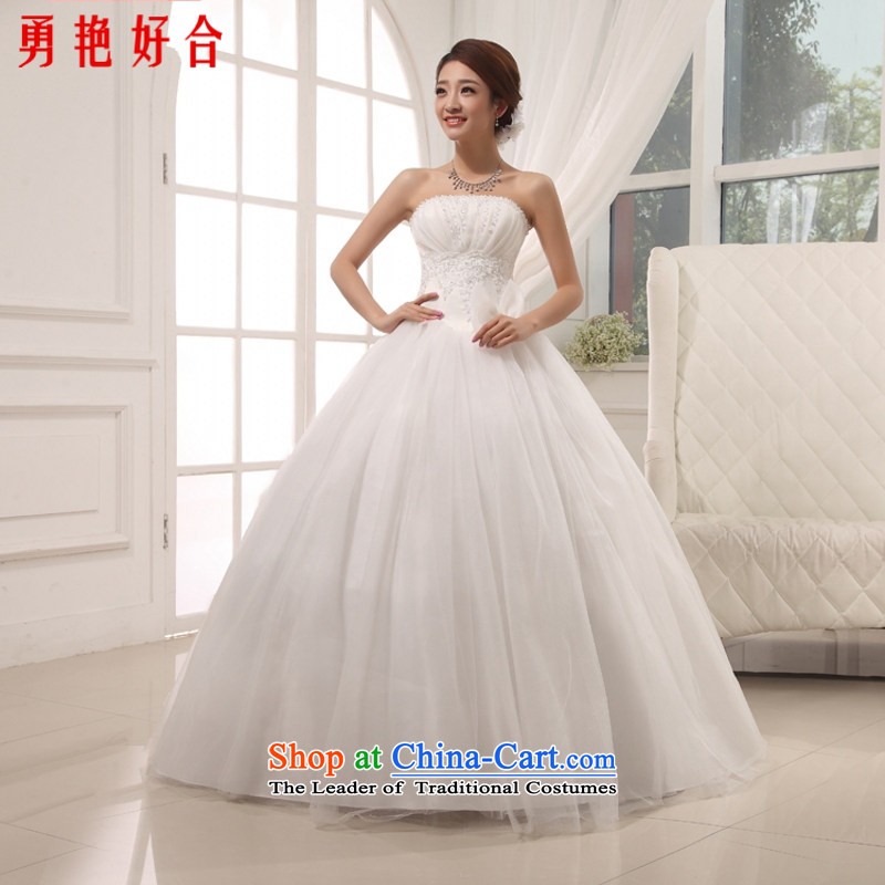 Yong-yeon and new products by 2015 and chest bon bon wedding Korean Princess wedding sweet elegant wedding Korean style, white�M to align