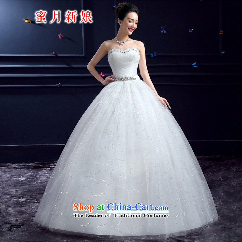 Wedding 2015 new wedding dresses honeymoon bride anointed chest wedding diamond princess to align graphics thin white wedding S