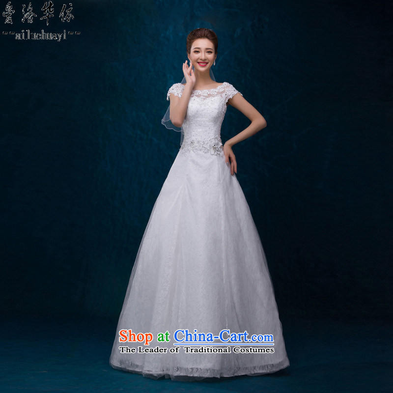 Wedding dress 2015 autumn and winter new package version Korea shoulder lace to align graphics thin diamond marriages A field to align the white dress with small elegant beauty white made no refund is not shifting
