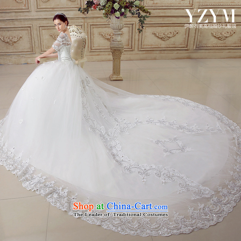 El drunken Yi Mei bride wedding dresses antique palace van lace wedding wedding dress wedding tail trailing?M