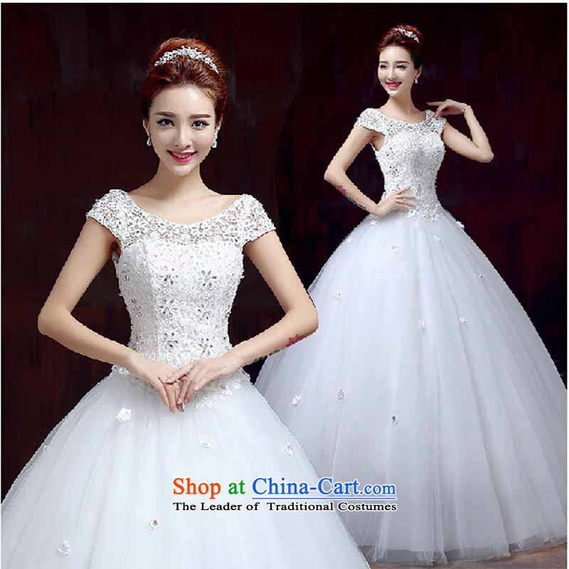 The spring and summer of 2015, Korean New Word wedding shoulder wedding�A swing to align the upscale marriages wedding dresses�XXXL White