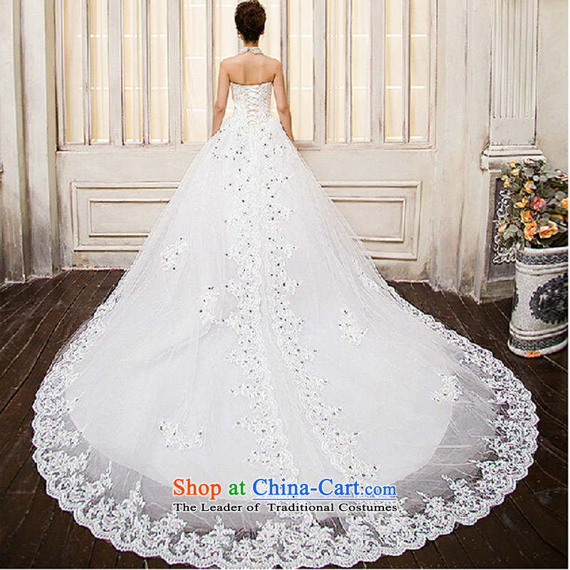 New tail wedding bride large tail wedding anointed chest simple tail new wedding anointed chest wedding white made size do not return not switch to love, Su-lan , , , shopping on the Internet