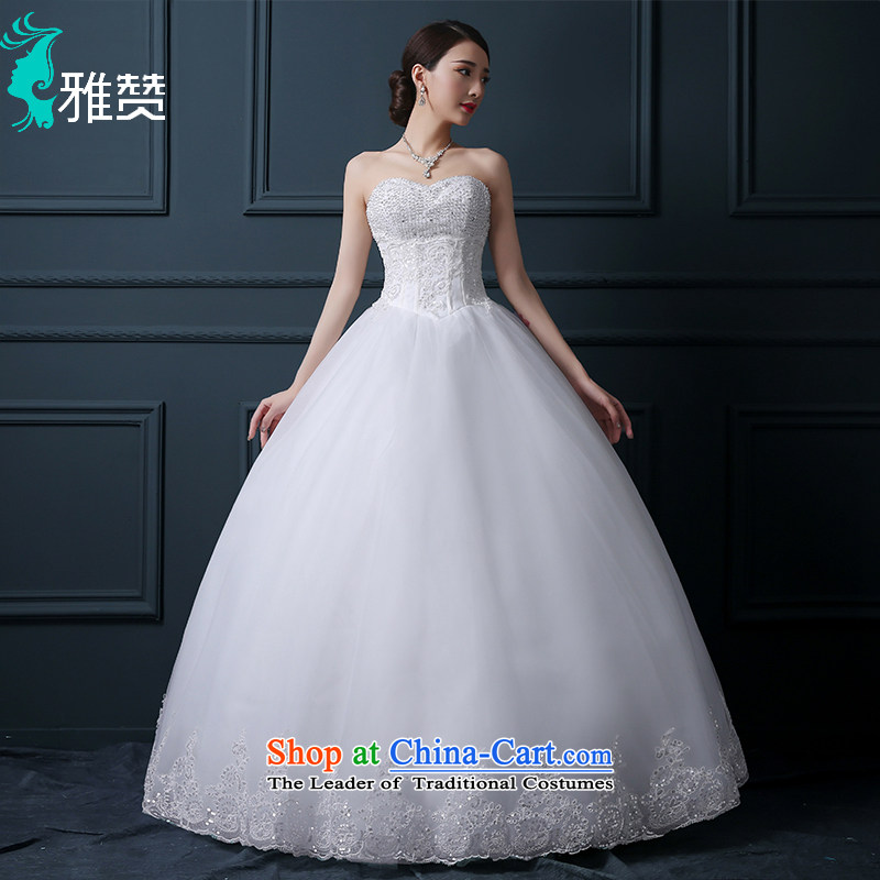 Wipe the Chest Chan Nga wedding dresses new 2015 summer and fall off-chip video thin straps Sau San Korean brides to align the princess skirt white S