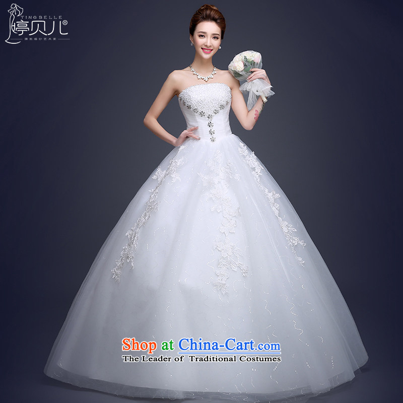 Beverly Ting 2015 Summer Wedding dress the new bride Korean anointed chest to large summer wedding video thin straps Sau San Diamond White XL