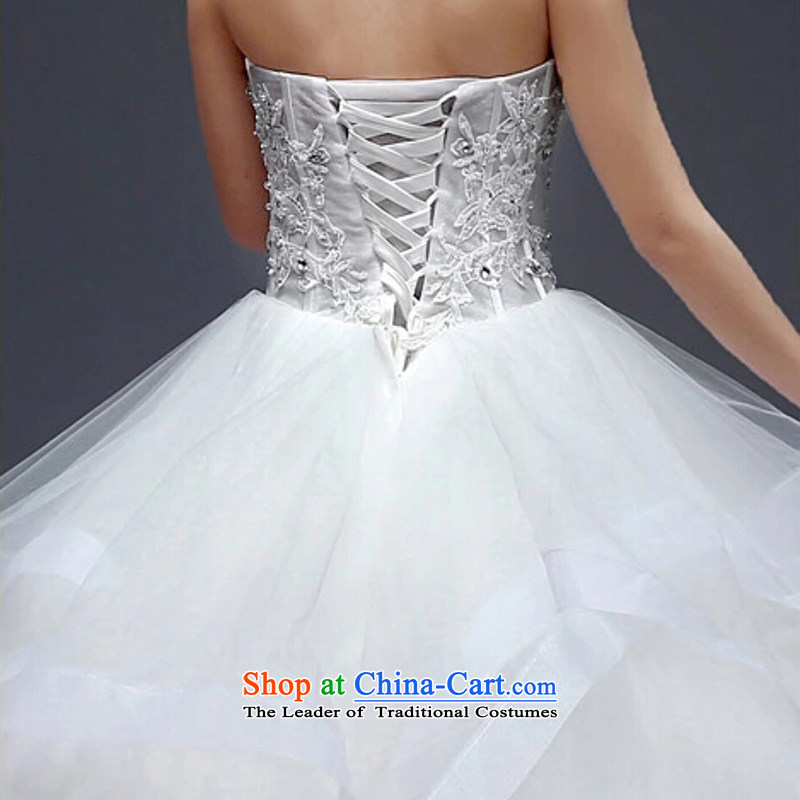 Yong-yeon and wedding dresses in spring and summer 2015 new marriages stylish anointed chest lace to align the minimalist Korean bon bon skirt WhiteM, Yong-yeon and shopping on the Internet has been pressed.