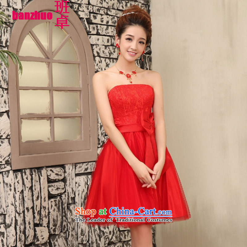 On the Korean version of the new 2015 Cheuk-yan) bridesmaid Dress Short of small sister small dress bride bows to small Sau San dress codes 80-115 per capita burden red