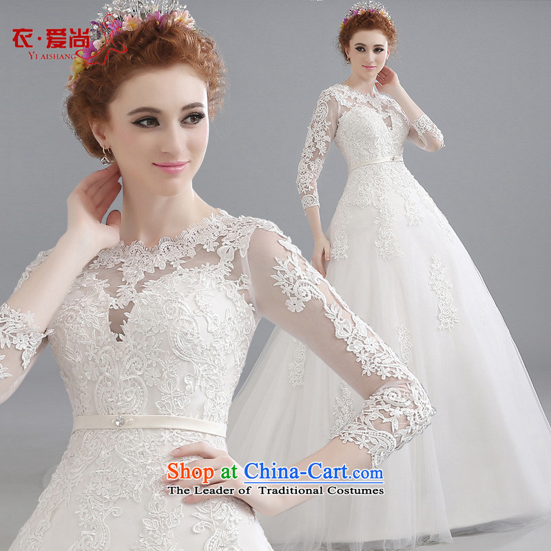 Wedding dresses Summer 2015 new products shoulders tail Korean lace large stylish large flower tail Sau San wedding white?S