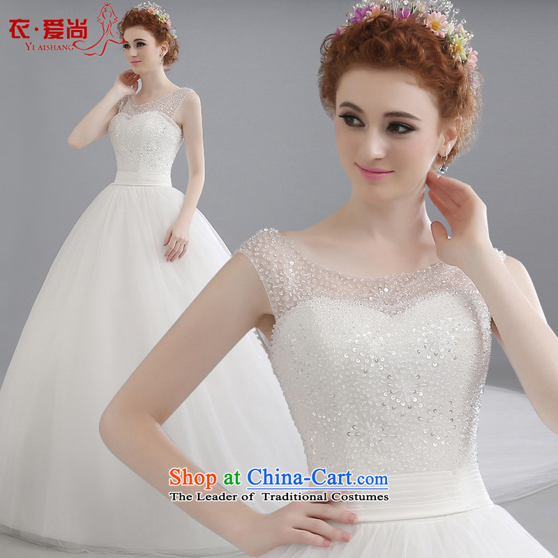 Yi love still wedding dresses new Word 2015 Summer stylish shoulder shoulders Korean brides long tail wedding code lace summer female tail can be made, plus $30 Does Not Return