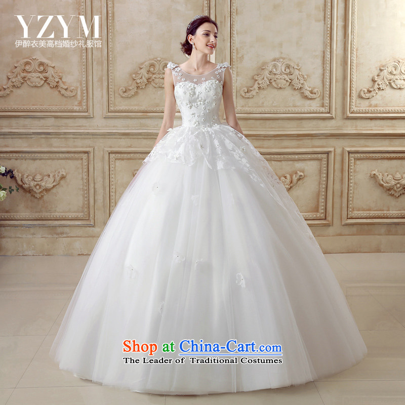 El drunken Yi Mei bride wedding dresses the yarn lace Align drill in the summer of 2015 wedding new drift of the bride wedding dress fresh wind wedding align the princess to?M