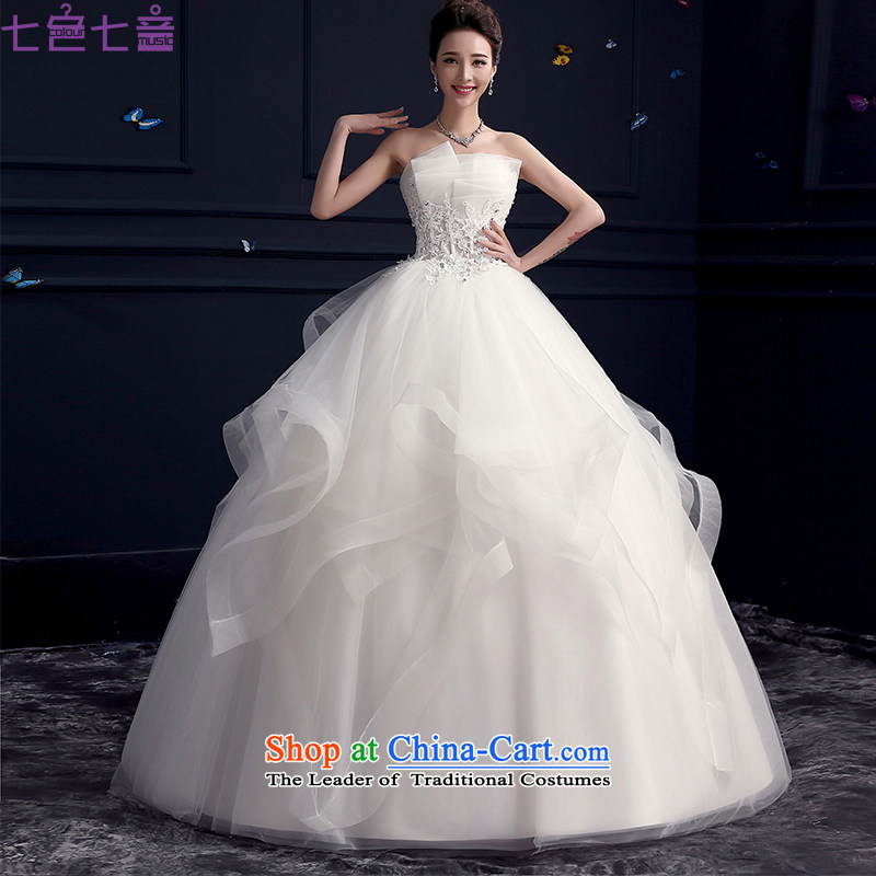 7 Color 7 tone Korean New 2015 marriages stylish anointed chest lace bon bon skirt wedding dress?H076?to align the white wedding tailored (does not allow)