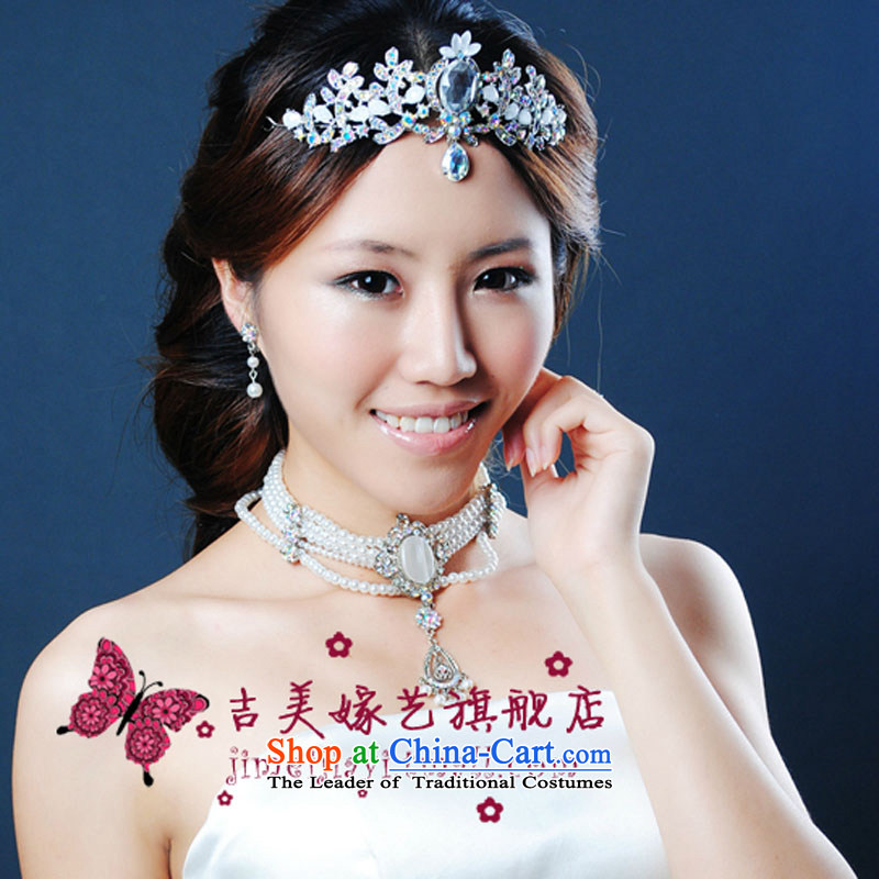 The bride wedding dresses accessories kit Korean TL995 link water drilling jewelry 2015 new marriage necklace White ear-pin