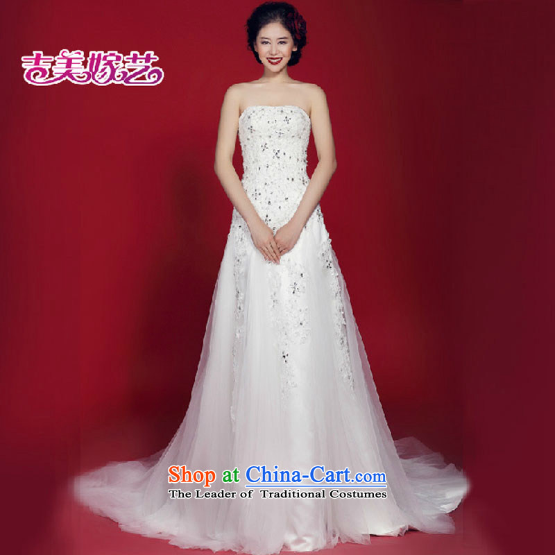 Wedding dress Kyrgyz-american married new anointed arts 2015 Chest Korean lace tail HT931 Sau San bride wedding White聽M