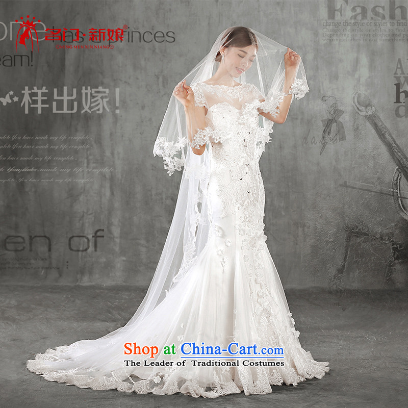 A Bride wedding dresses?Summer 2015 new products lace wedding tail 2578 White?DZ tailored plus 20_