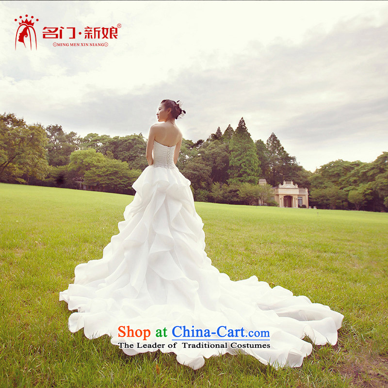 A Bride wedding dresses聽2015 Summer tail wedding anointed chest聽2,613聽White聽S