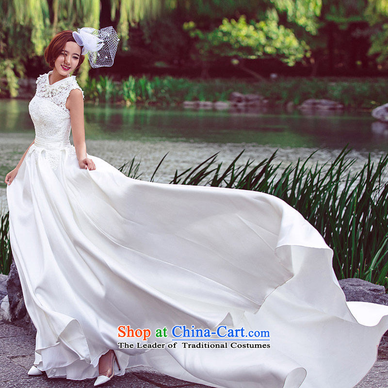 Marriage?bride Summer 2015 wedding custom wedding tail wedding dresses?2612th?white?DZ tailored plus 20_