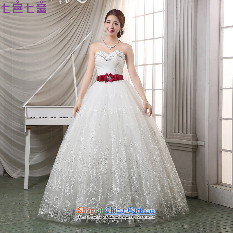 7 Color 7 tone Korean new bride 2015 White Diamond wiping the chest to align the summer of Sau San wedding dresses?H064?White?M