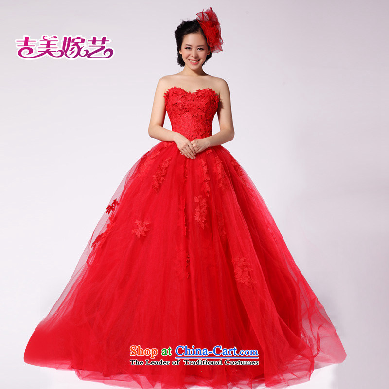 2015 new bride neon lace vera wang wei wang wei HT999 tail red video thin wedding dresses RED?M