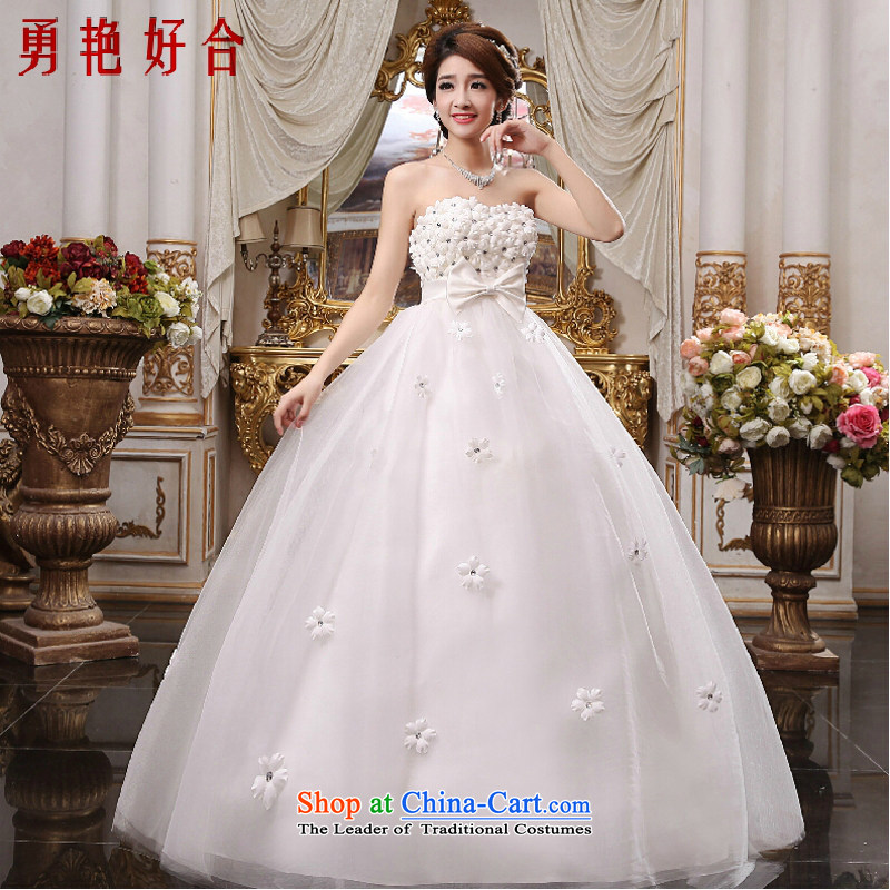 Yong-yeon and 2015_ wedding dresses and chest to pregnant women with Top Loin of Korean brides larger lace new white聽XXXL not refunded