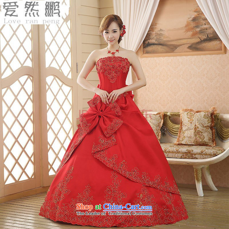 Love So Peng New 2015 wedding Korean alignment with chest wedding dresses Korean sweet princess bon bon skirt Summer Wedding?Package returning red XL