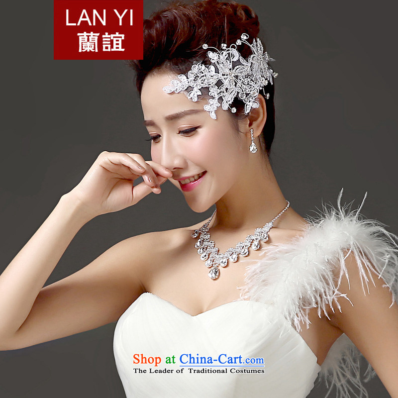 Estimated?2015 bride wedding friends gift clothing accessories for three piece Korean Head Ornaments necklaces earrings with accessories exclusive Drill Accessories Kits
