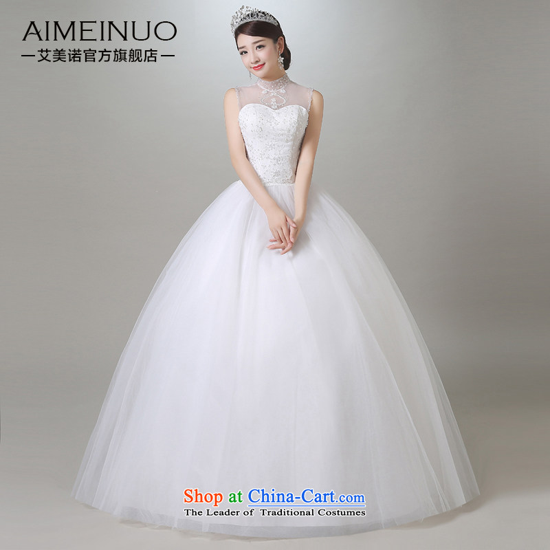 Hiv Miele wedding dresses in summer and autumn 2015 new retro gauze collar shoulders wedding Korean Sau San lace princess yarn?A15CH98?white?S (?waist a foot 9?)