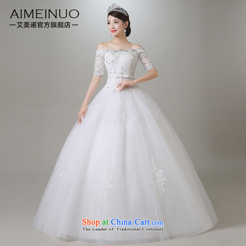 Hiv Miele wedding in summer and autumn 2015 new irrepressible marriages retro elegant lace a field in shoulder cuff wedding bow tie A15CH99 White?M _?FT?_, two waist