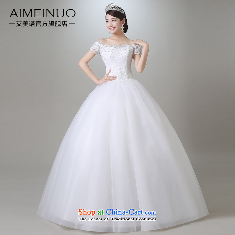 Hiv Miele wedding in summer and autumn 2015 Korean word marriages shoulder wedding Silk flower buds princess yarn strap?White?XXL A15CH105 Sau San (?iii?) two feet in waist