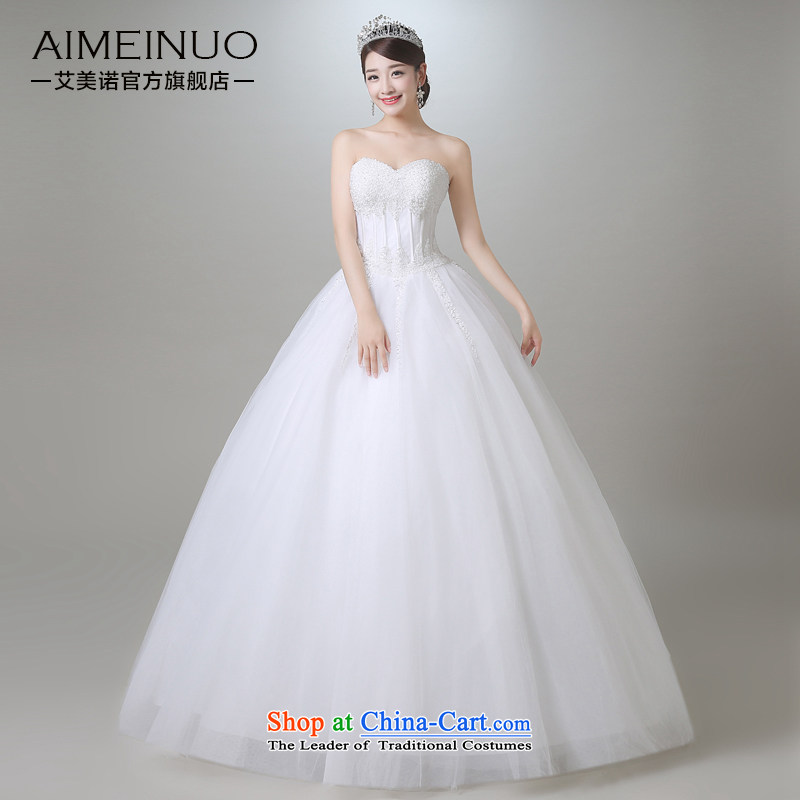 Hiv Miele Wedding 2015 Summer new stylish nail pearl heart-shaped wiping the chest to align marriages princess yarn Korean?A15CH110 Sau San?white?L _?waist two feet in a?_