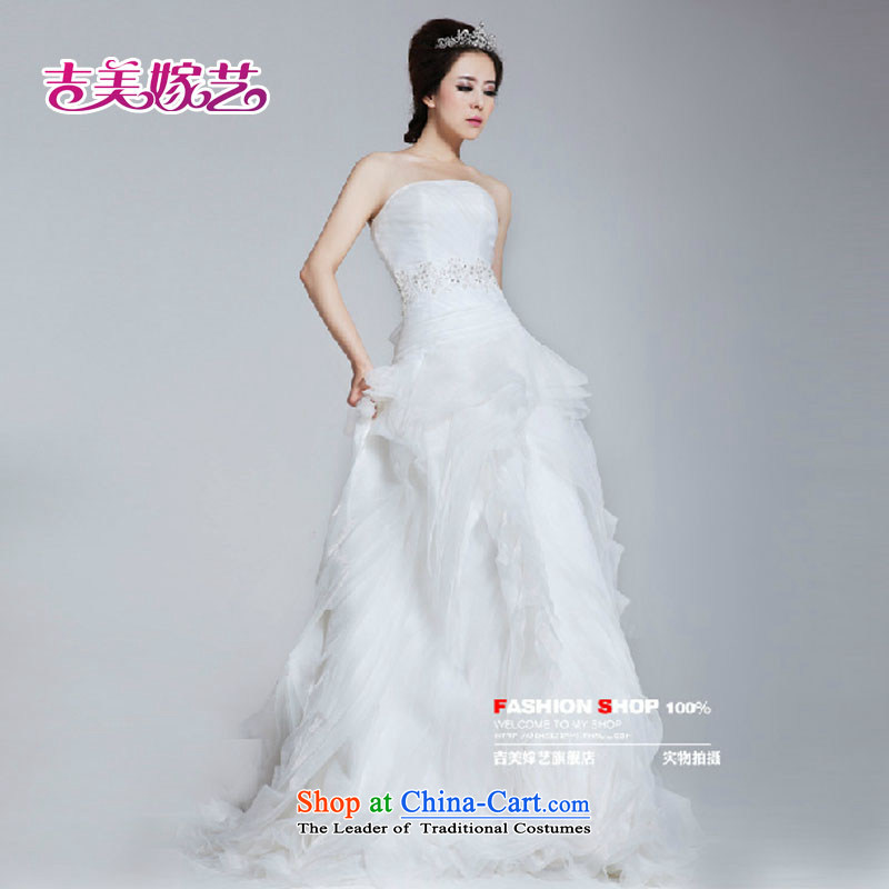 Wedding dress Kyrgyz-american married arts new 2015 Chelsea Wang Weiwei New Romantic HT641 gliding wedding white?XXXL Bride
