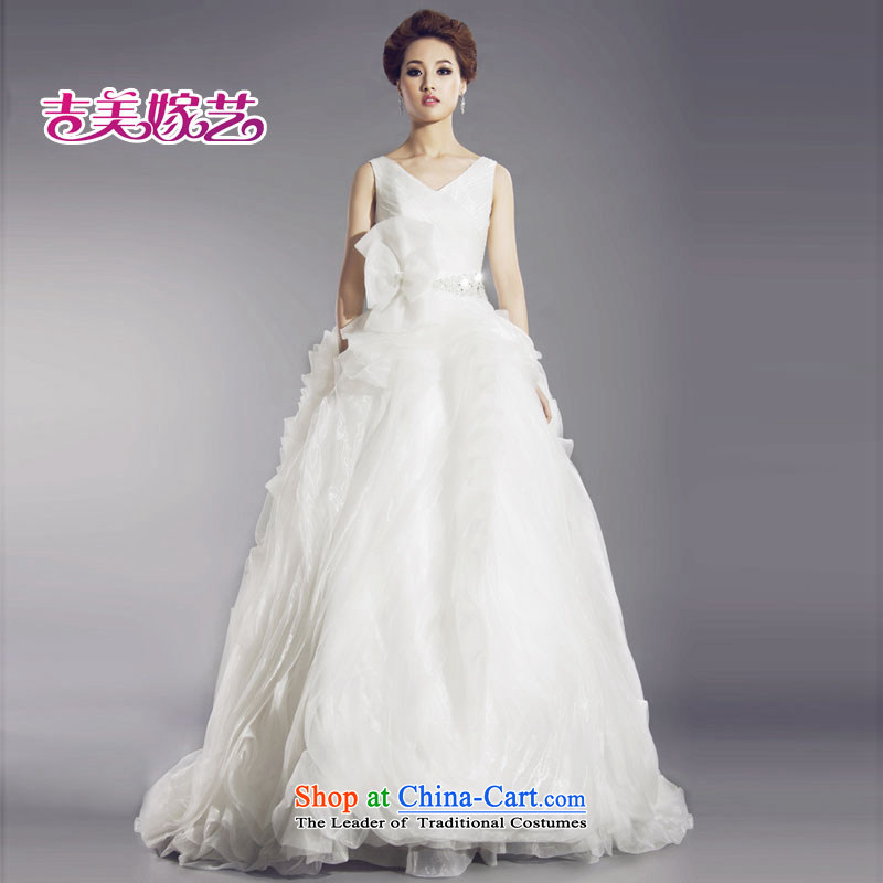 Kyrgyz-US married arts vera wang white shoulders thin new live video shoot wedding dresses HT635 bride wedding White?XL