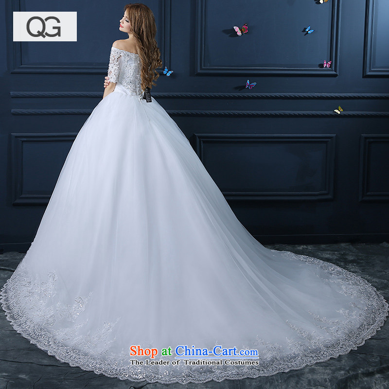 2015 new wedding dresses, shoulder length field to align the trailing wedding video thin Korean version of large numbers of winter tail?XS