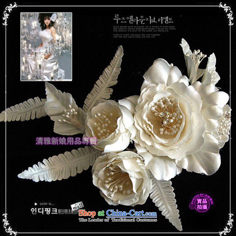 The bride / bridal dresses qipao accessories and flower headdress White Rose lover B TH2048 bride White