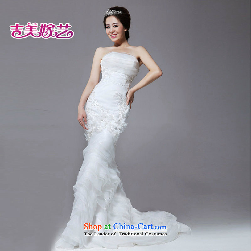 Kyrgyz-US married arts vera wang wei wang wei style crowsfoot flowers graphics thin wedding dresses real concept HS648 wedding White?XL