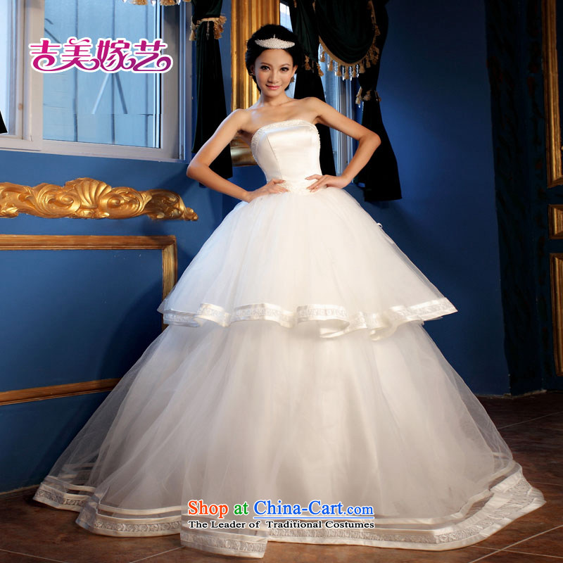 The Korean version of the new ultra lovely manually set the bride-ju won version bride wedding dresses HS300 bride wedding white?S