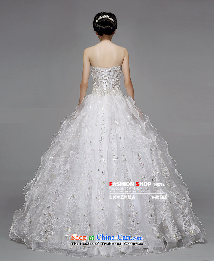 Wedding dress Kyrgyz-american married new anointed arts 2015 Chest Korean bon bon skirt to align the Sau San AS211 bride wedding white picture, prices, S brand platters! The elections are supplied in the national character of distribution, so action, buy now enjoy more preferential! As soon as possible.