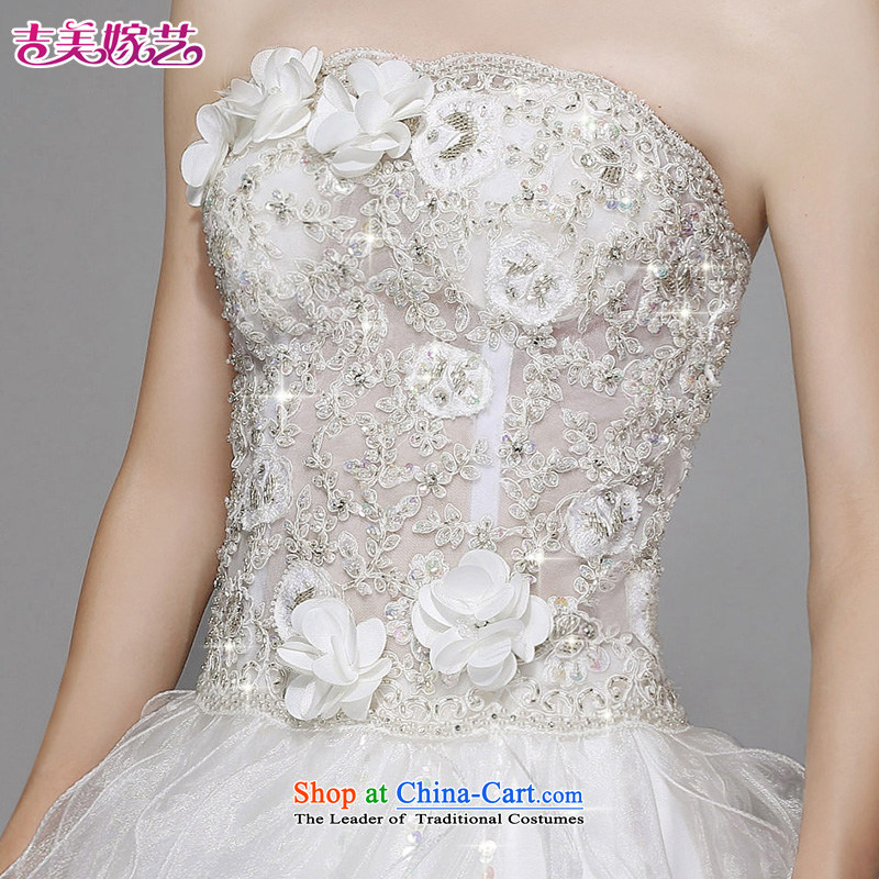 Wedding dress Kyrgyz-american married new anointed arts 2015 Chest Korean bon bon skirt to align the Sau San AS211 bride wedding whiteS Kyrgyz-american married arts , , , shopping on the Internet