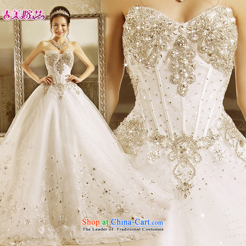 Wedding dress Kyrgyz-american married new Korean arts 2015 edition anointed chest princess bon bon skirt to align the bride wedding align HT7152 to聽L