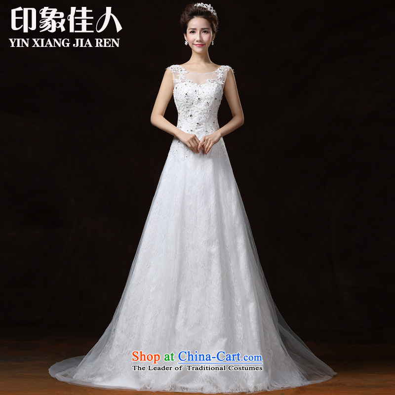 Starring impression?new 2015 wedding dresses and stylish large Korean thick MM video thin wedding dress female marriages A swing trailing?M