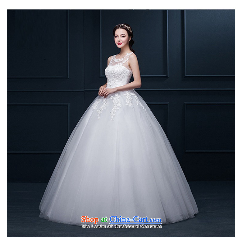 The new 2015 Autumn Korean history with chest wall lace Sau San larger back to align the wedding White?XL