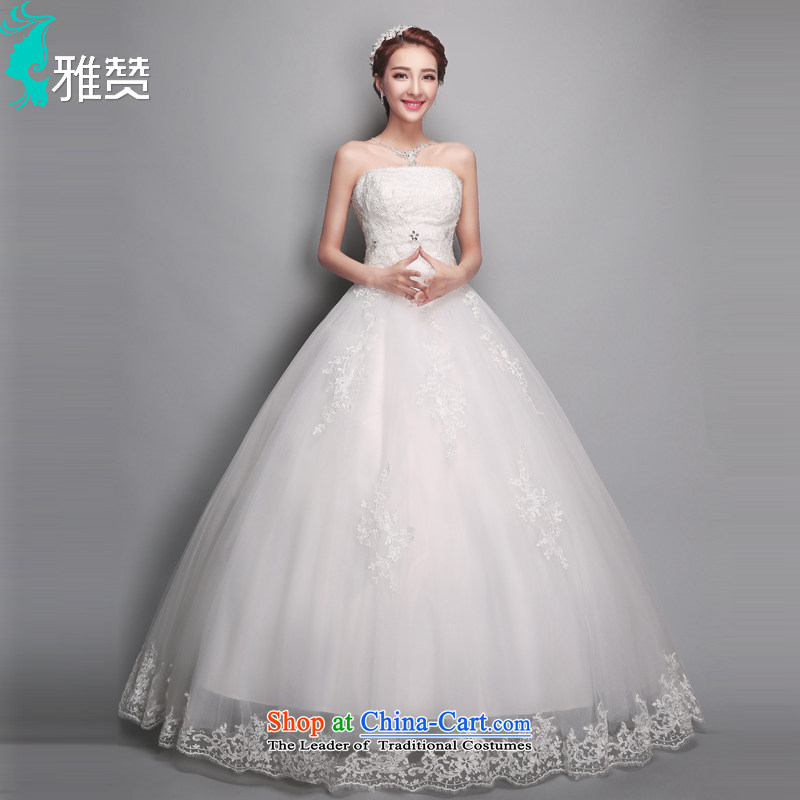 Jacob Chan won wedding anointed chest to skirt bon bon 2015 Summer new marriages wedding lace video thin wedding White XL